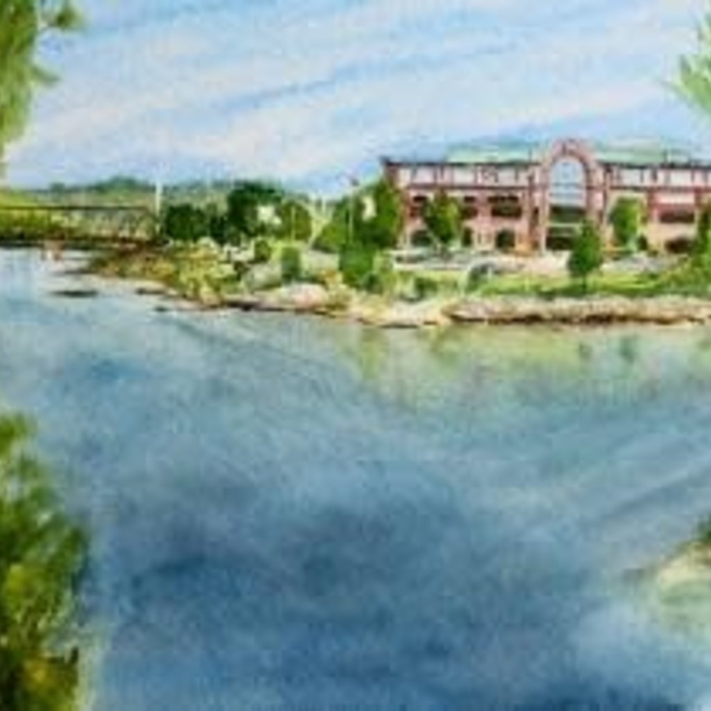 Amy Beidleman Confluence of Rivers Greeting Card