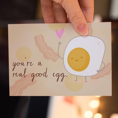 Lydia Tradewell Egg Greeting Card