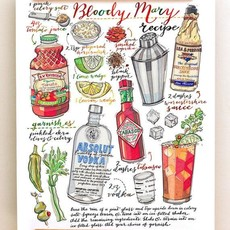 LouPaper Bloody Mary Print Vertical (11x14)