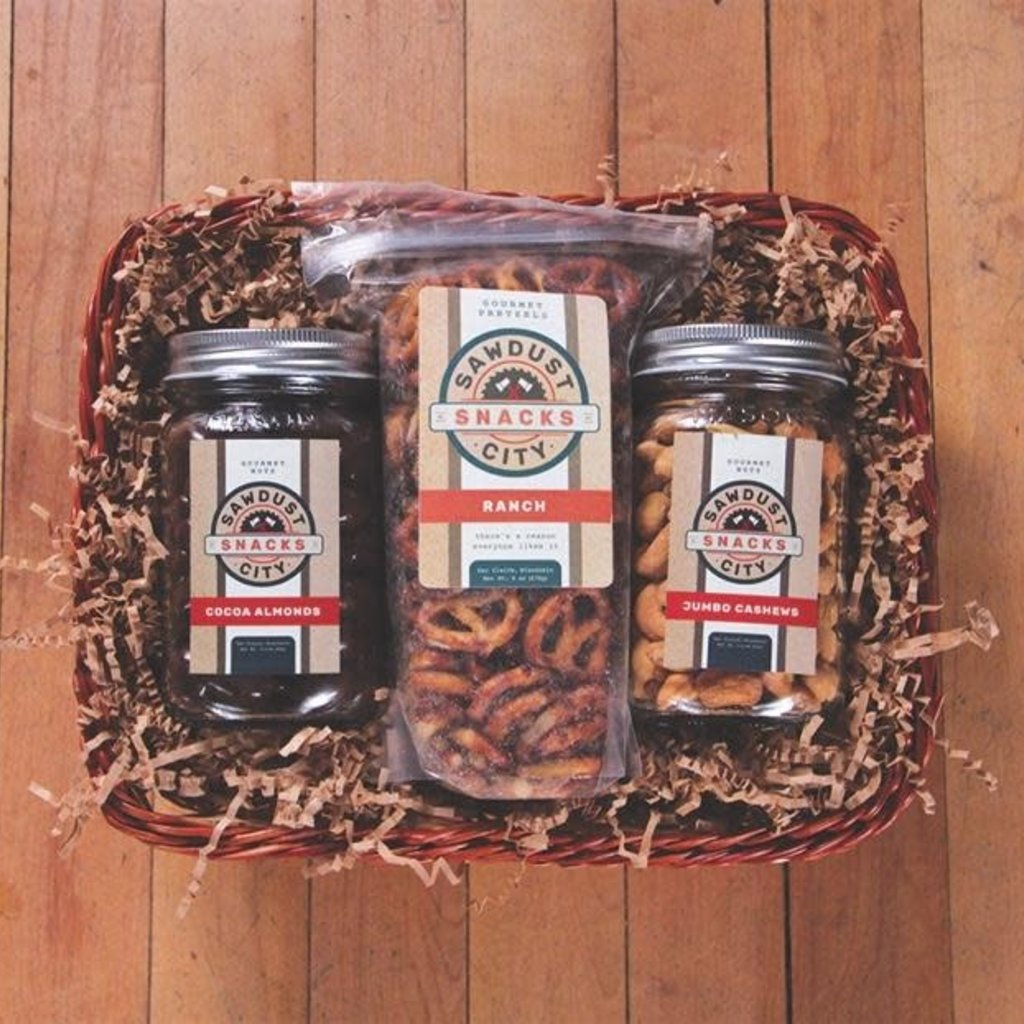 Volume One Gift Basket - Sawdust City Snack Pack