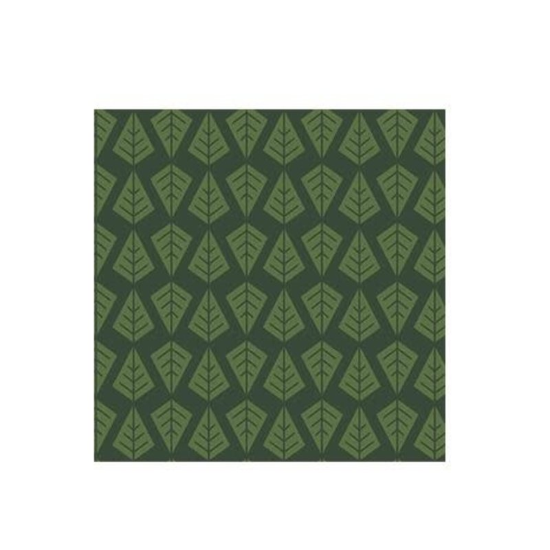 Volume One Cocktail Napkin - Linear Green Trees