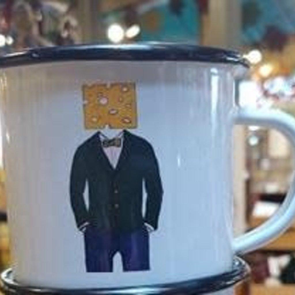 Volume One Enamel Mug - Cheese Head