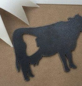 Iron Maid Art Bottle Opener - Cow (Metal)
