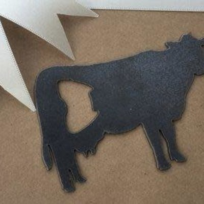 Iron Maid Art Bottle Opener - Cow (Metal)