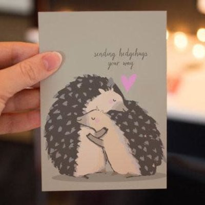 Lydia Tradewell Hedgehog Greeting Card
