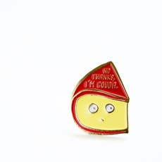 ILootPaperie Lapel Pin - I'm Gouda Cheese