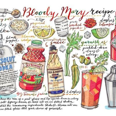 LouPaper Bloody Mary Print Horizontal (11X14)
