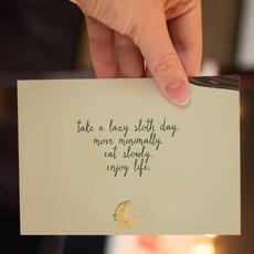 Lydia Tradewell Sloth Greeting Card