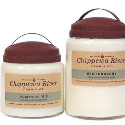 Chippewa River Candle Co. Log Cabin Large Apothecary Jar Candle 28 oz