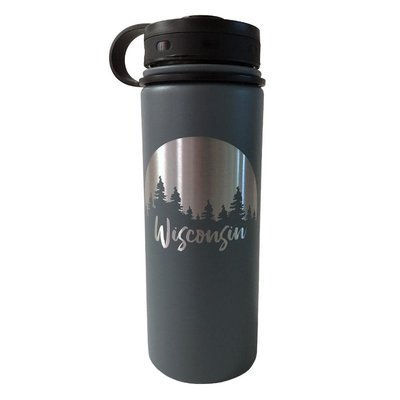 Forward Apparel Company Thermal Water Bottle - Wisconsin Trees (Grey)