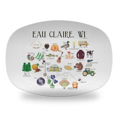 dishique Platter - Eau Claire Alphabet
