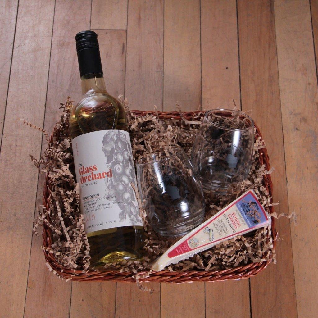 Volume One Gift Basket - Wine + Cheese