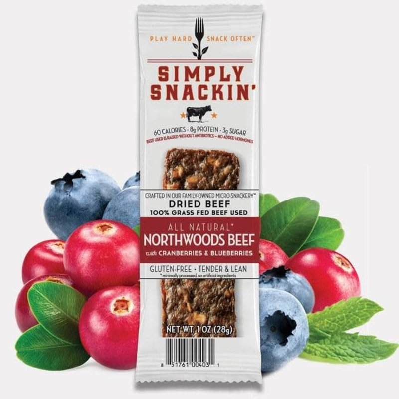 Simply Snackin' Protein Jerky Snack - Northwoods Beef (1 oz.)