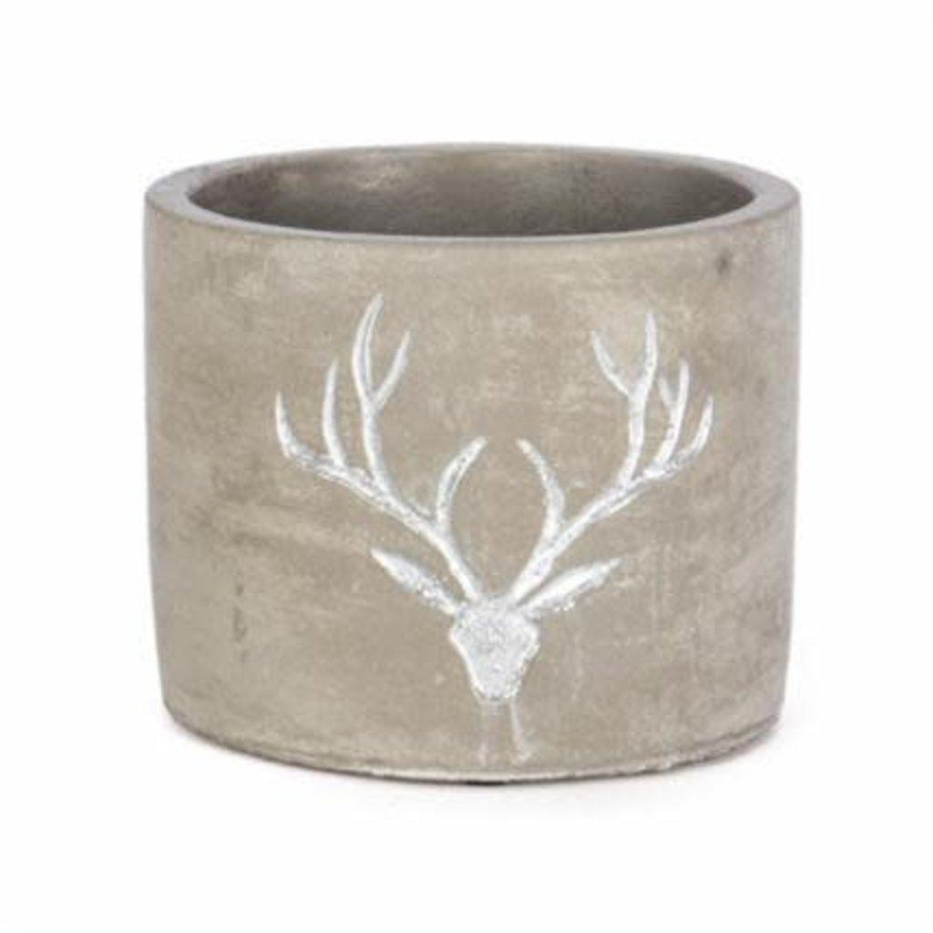 Volume One Cement Planter - Reindeer