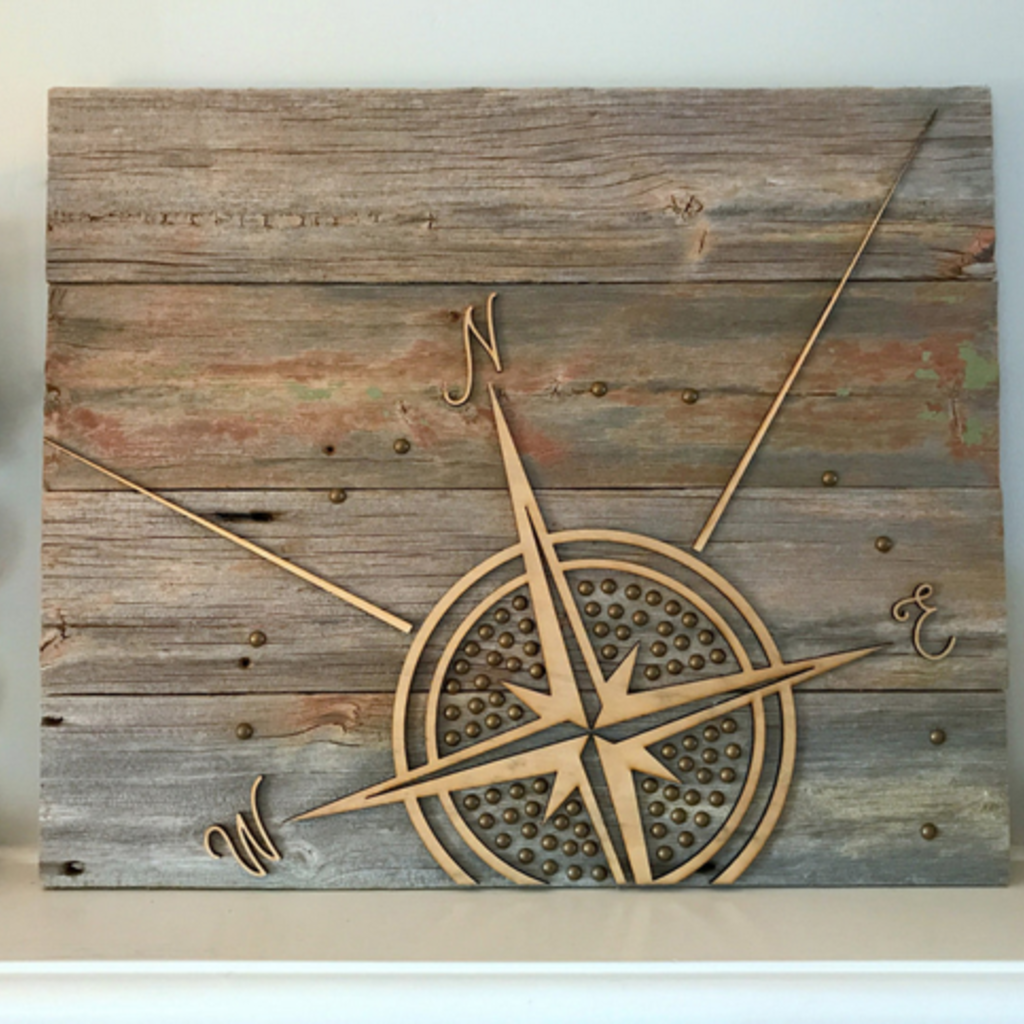 Paper Pleasers Wood Sign - Compass
