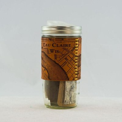 Tactile Craftworks Leather Travel Mug - Eau Claire Map (24 oz.)