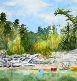Amy Beidleman Big Falls Greeting Card