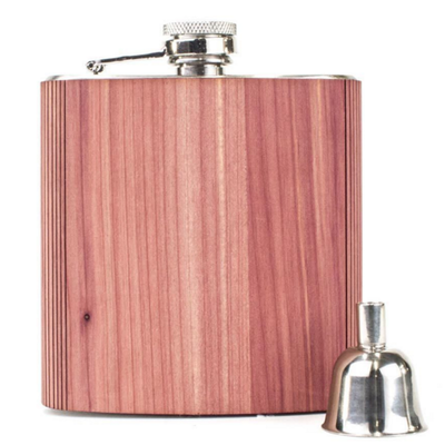 Woodchuck Wood Flask - Cedar (Large 6oz)
