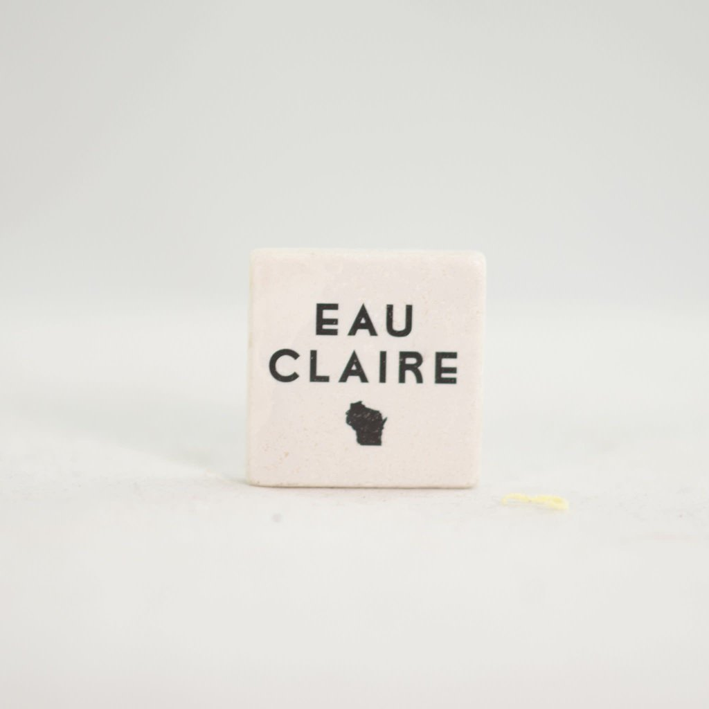 Volume One Marble Magnet - Eau Claire, WI State