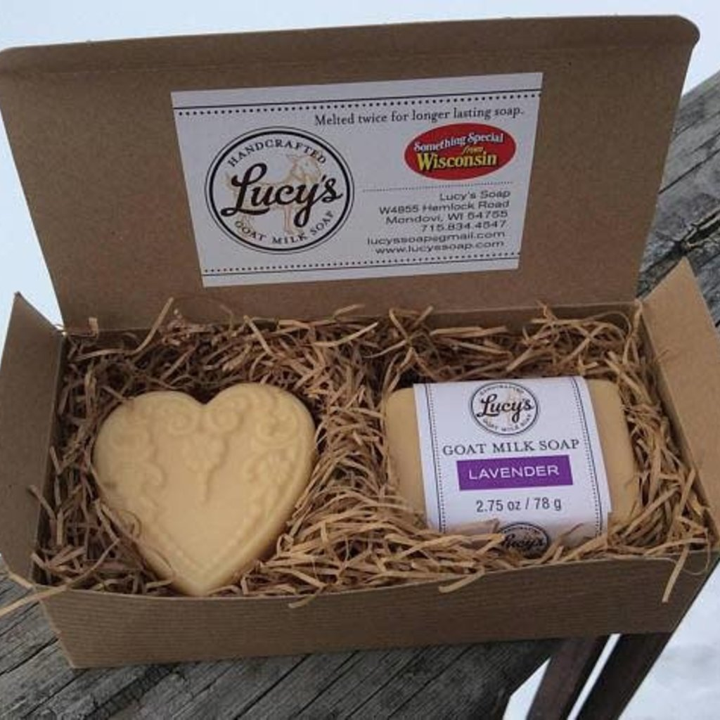 Lucy's Goat Milk Soap Lucy's Goat Soap - Boxed Set w/ Heart