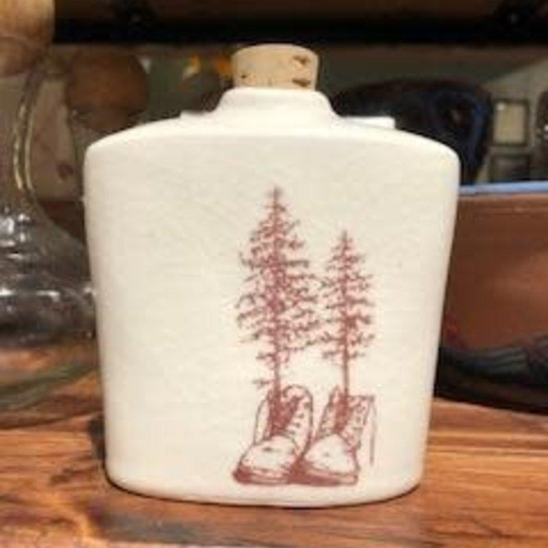 Tandem Ceramics Ceramic Flask - Tree & Boots