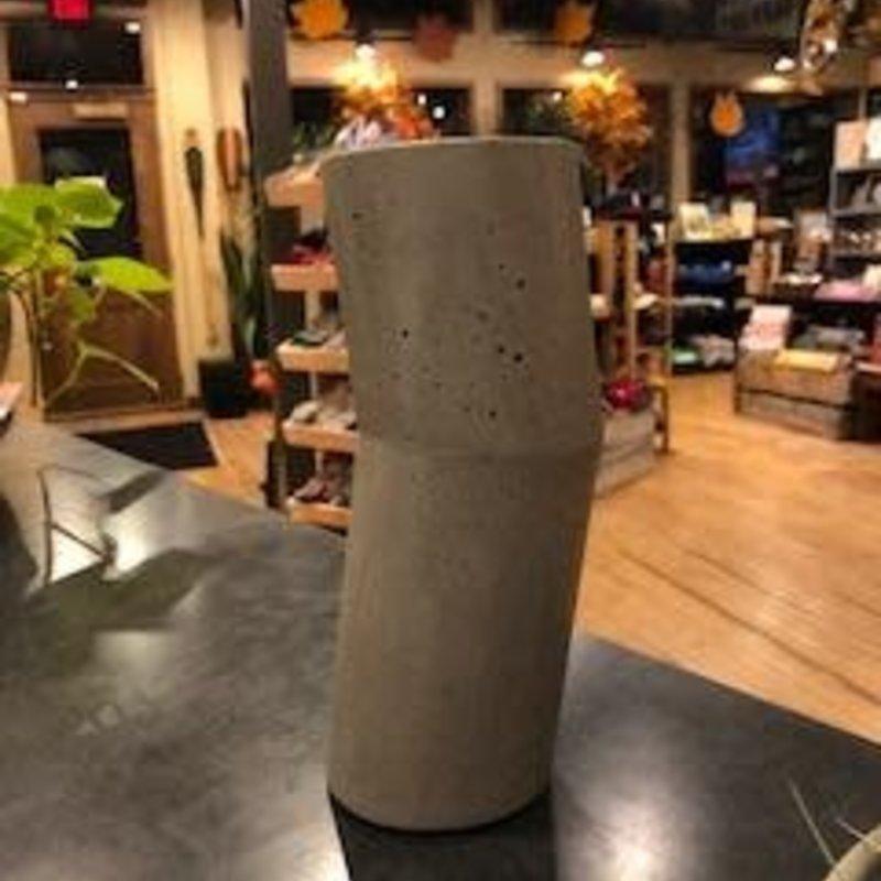 Concrete Pig Concrete Vase - Small