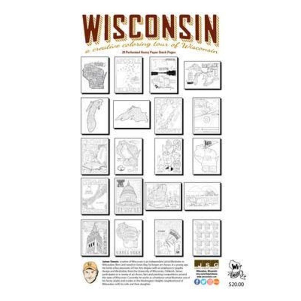 James Steeno Wisconsin Coloring Book