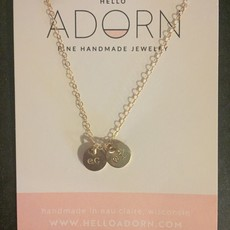 Adorn Jewelry EC/WI Discs Necklace - Gold