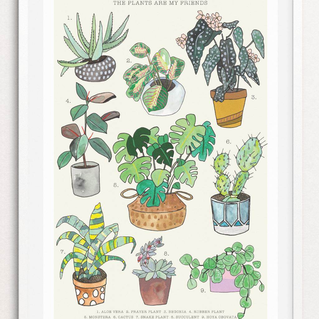 Persika Design Plant Friends Print (11x17)