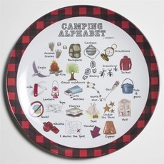 dishique Kid's Plate - Camping Alphabet