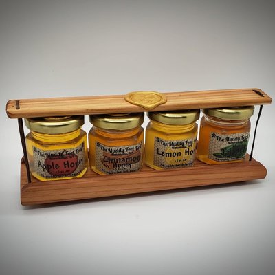 The Muddy Feet Forty Infused Honey Wood Gift Pack Set (4)