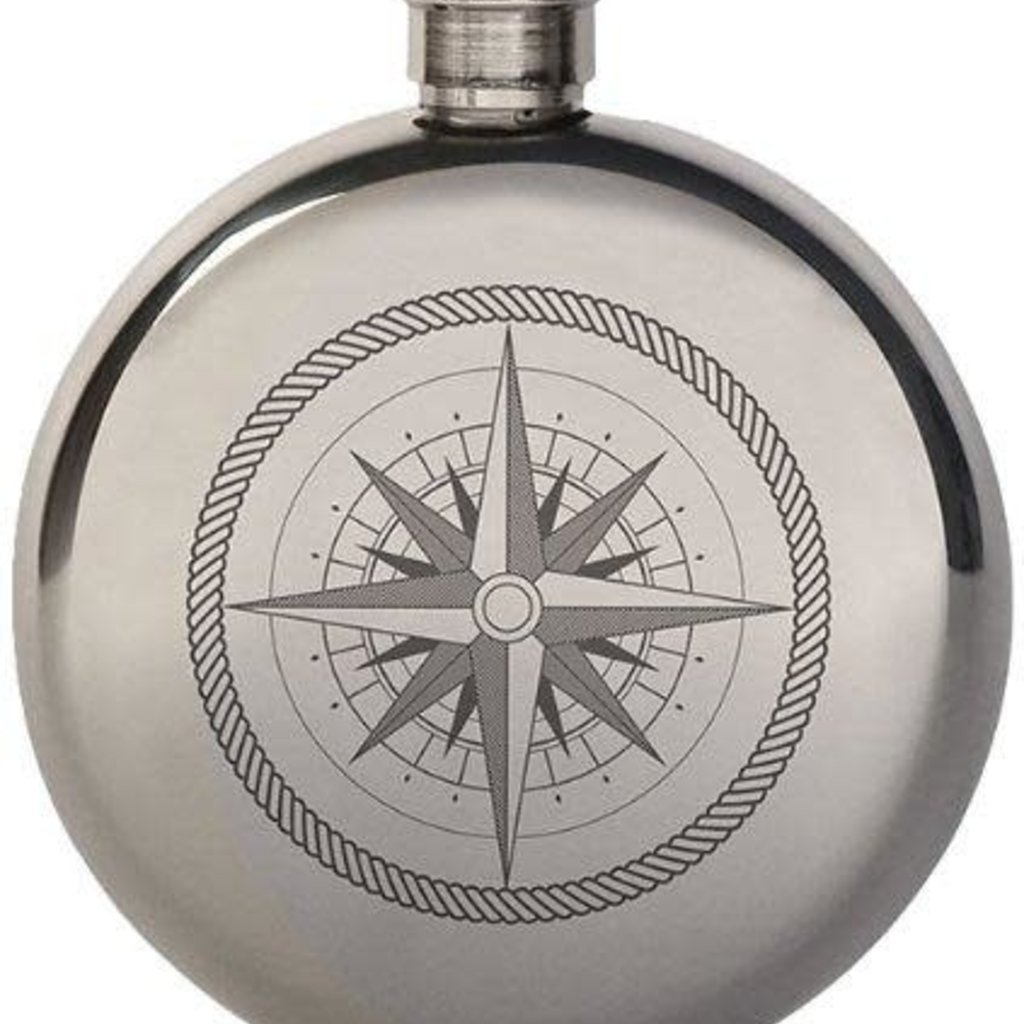 Volume One Compass Flask - 5 oz.