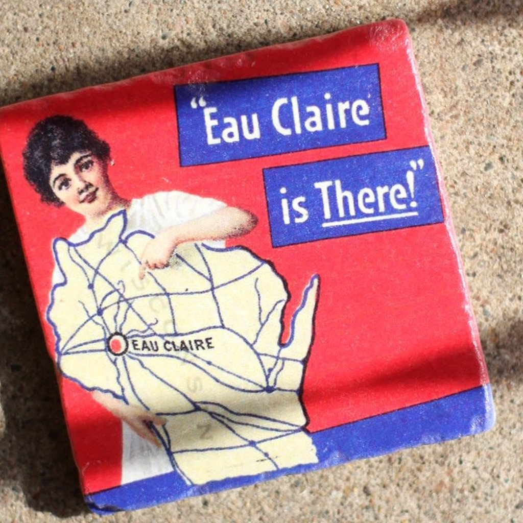 Volume One Marble Coaster - Eau Claire Is There