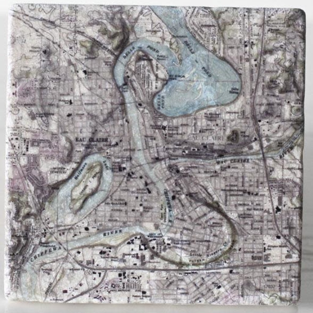 Volume One Marble Coaster - Eau Claire & Chippewa River