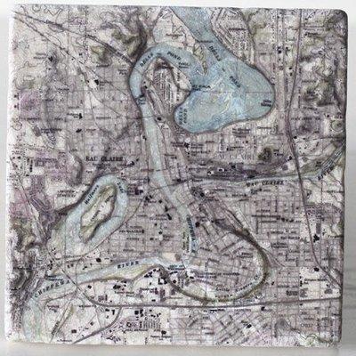 Volume One Marble Coaster - Eau Claire & Chippewa River