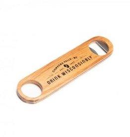 Leinenkugel's Bottle Opener - Drink Wisconsinbly (Wood)