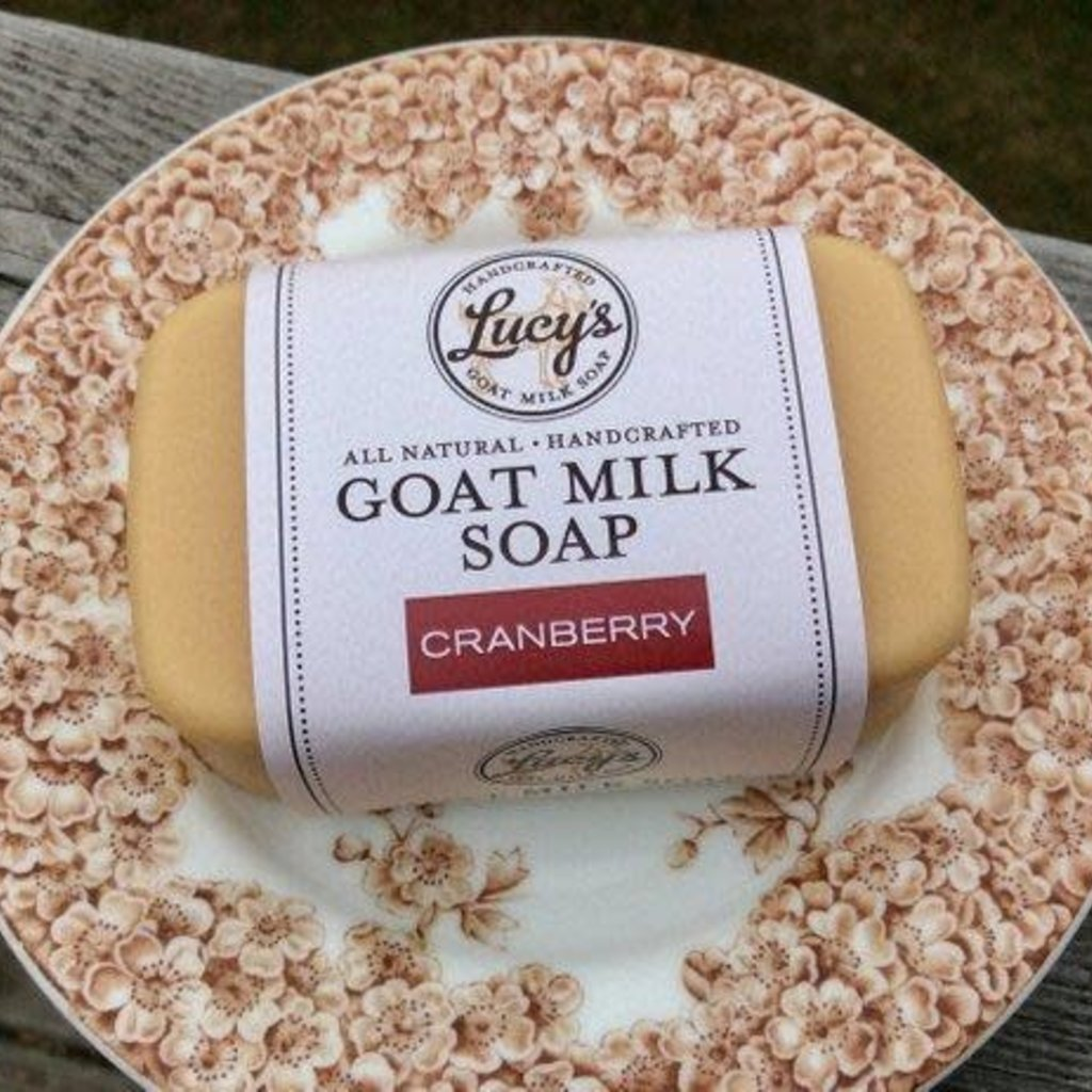 Lucy's Goat Milk Soap Lucy's Goat Milk Soap - Cranberry Bath Bar