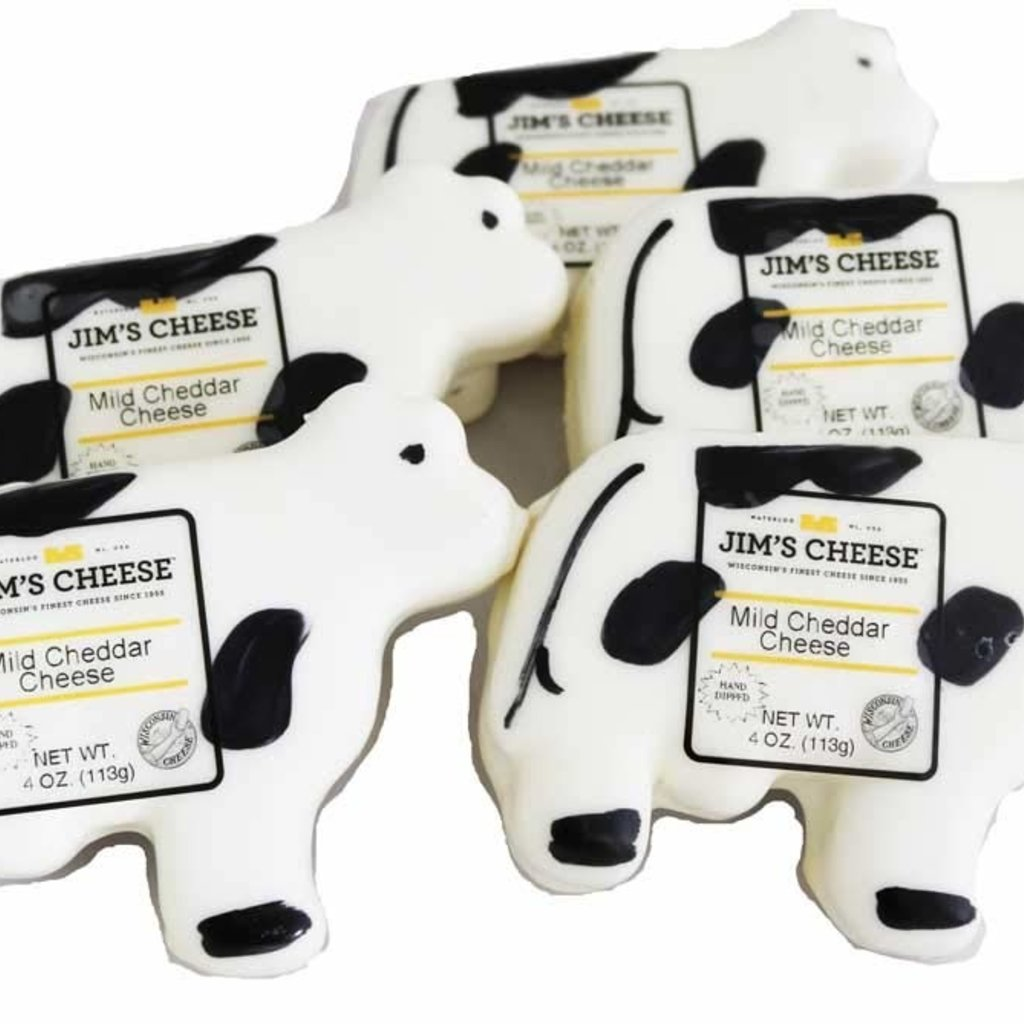 Vern's Cheese Cow Shaped Waxed Cheddar Cheese (4oz)