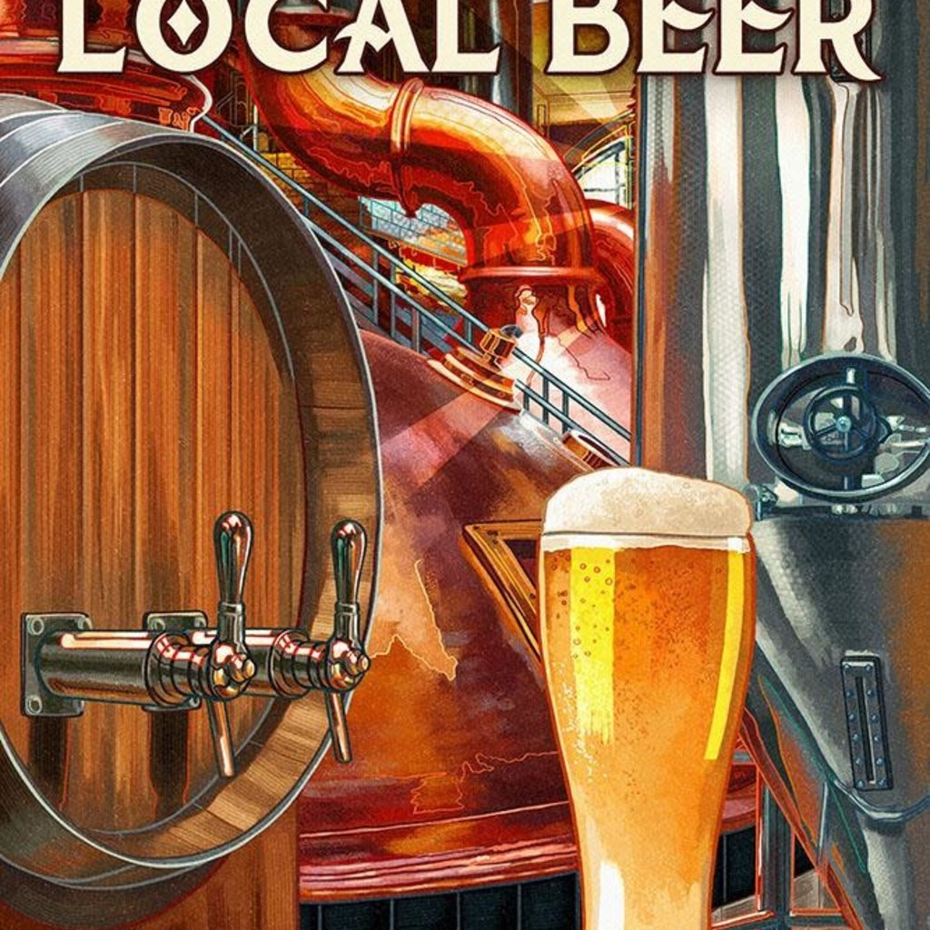 Volume One Metal Sign - Drink More Local Beer (12x18)