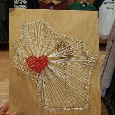 Wisconsin String Art Sign