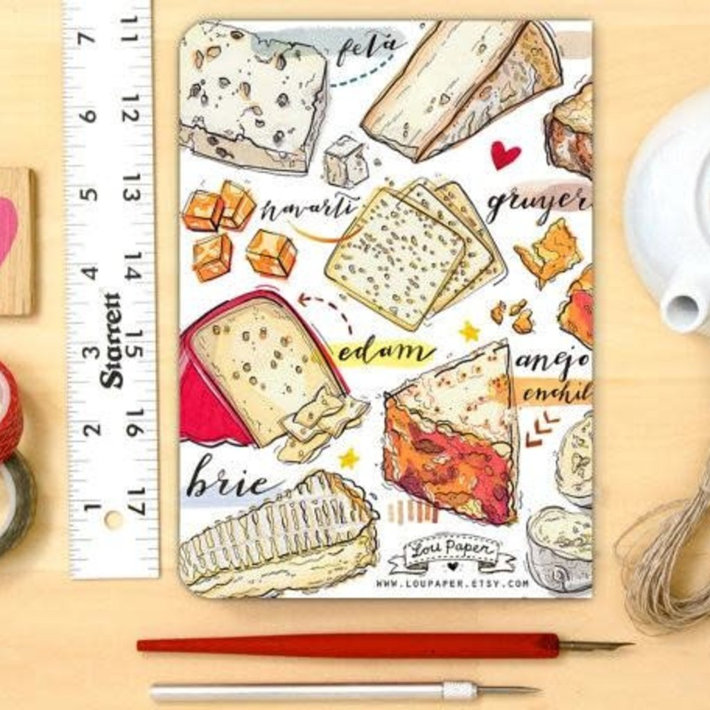 LouPaper Cheese Notebook