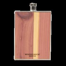 Woodchuck Wood Flask - Cedar (Plain)