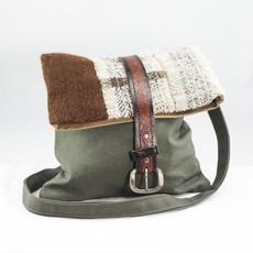 Wool n' Feather Farm Wool Crossbody Tote Bag