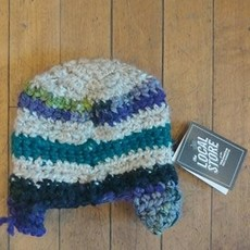Cindy Knapmiller Knit Kids Hat - Multi Colored Stripes