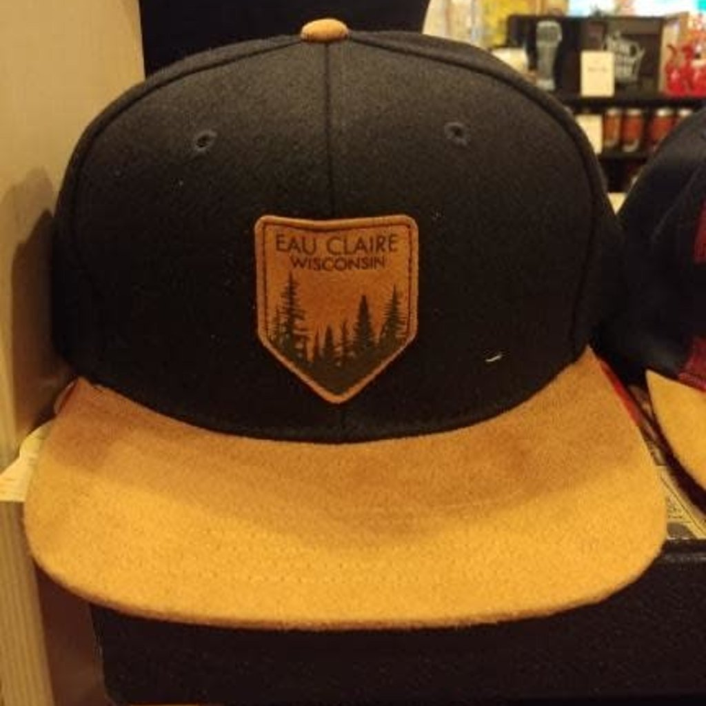 Volume One Flat Brim Hat-Eau Claire Black