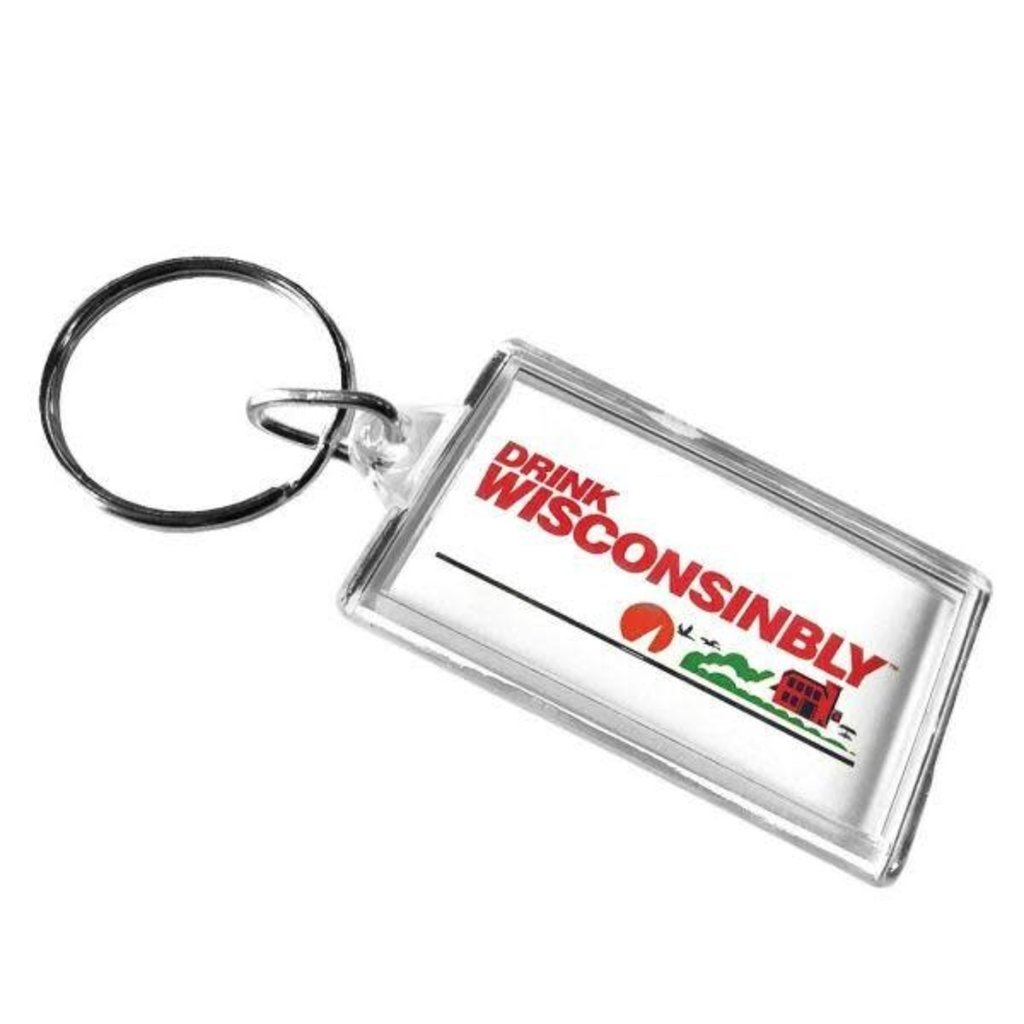 Drink Wisconsinbly Keychain - Drink Wisconsinbly License Plate