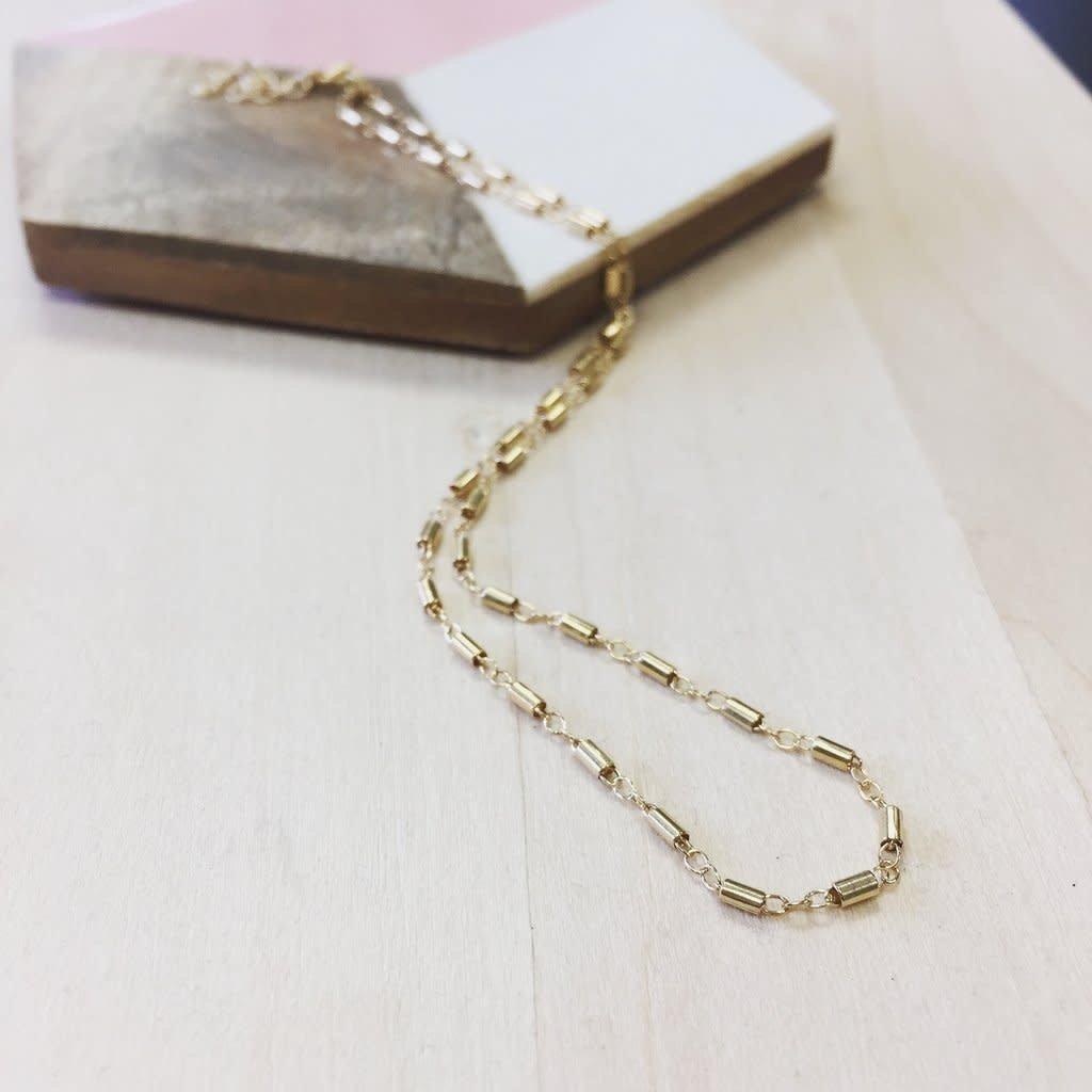 Hello Adorn Jewelry Barrel Choker - Gold