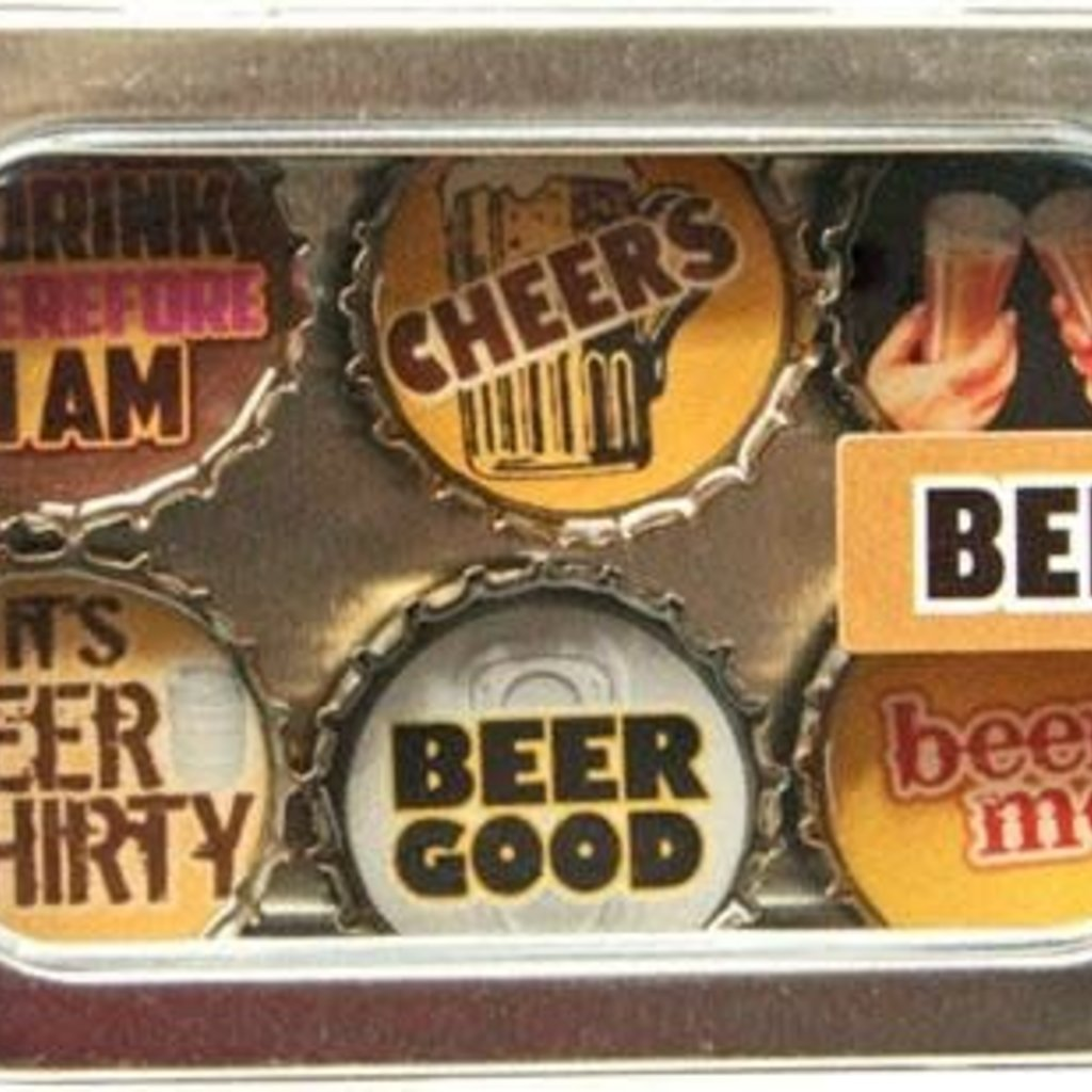 Kate Grenier Bottle Cap Magnet Set - Beer