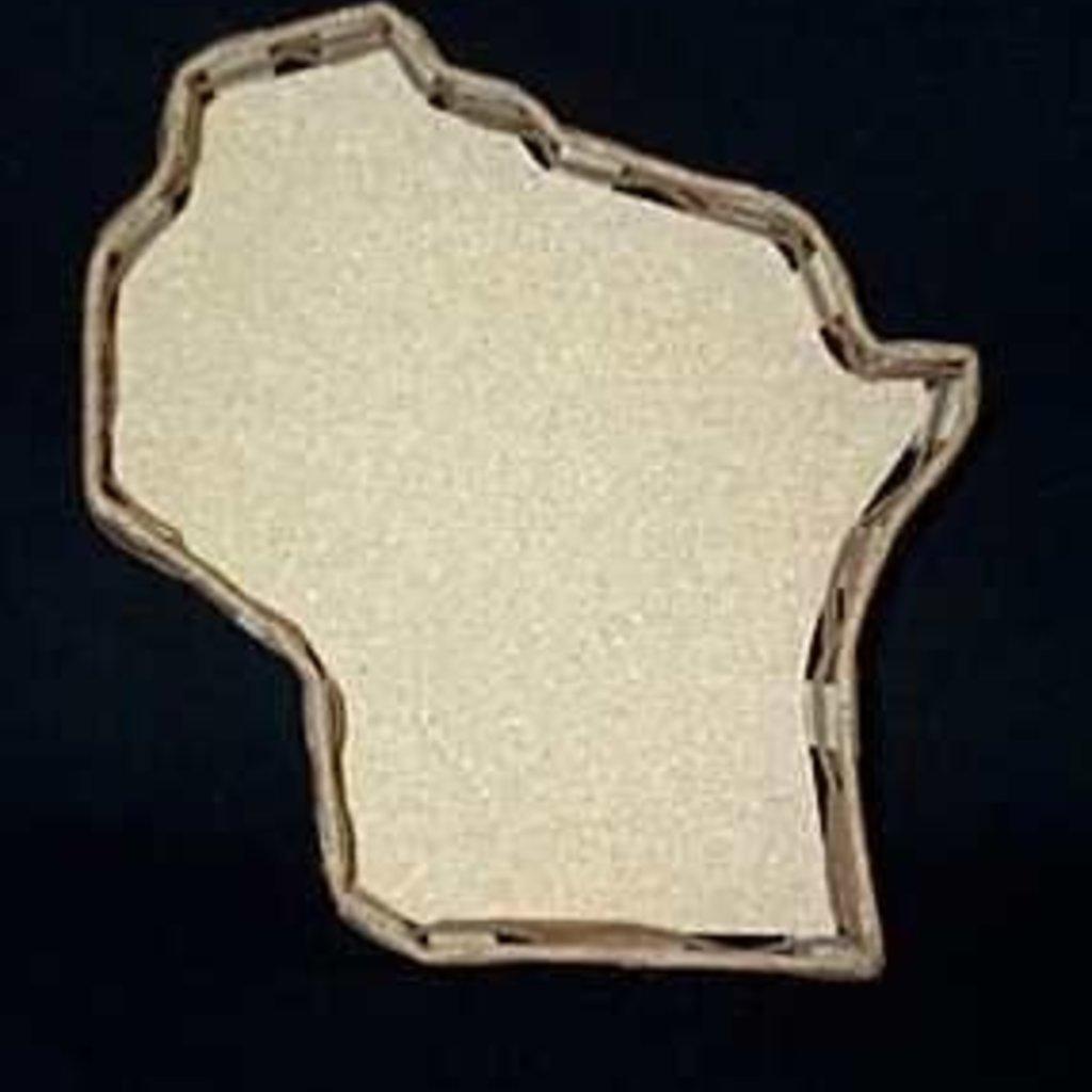 Volume One Wisconsin Shaped  Gift Basket (Large 13')