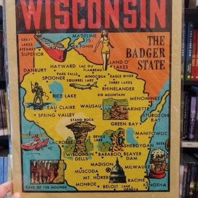 Artovision Wisconsin Shadowbox Print - The Badger State